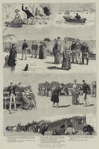 Honeymoon Hardships-John Charles Dollman-Stretched Canvas Print