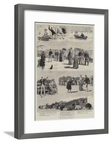 Honeymoon Hardships-John Charles Dollman-Framed Art Print