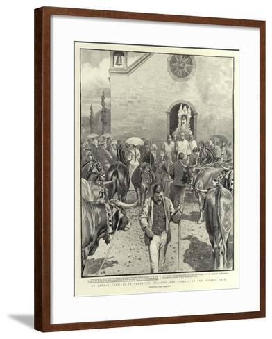 An Annual Festival in Teneriffe, Blessing the Animals at San Antonio Abad-John Charlton-Framed Art Print