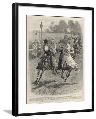 A Novel Competition in a Gymkhana at Quetta, a Gretna Green Race-John Charlton-Framed Art Print