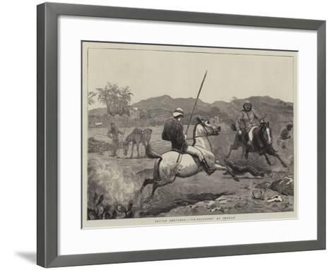 Indian Sketches, Pie-Sticking at Poonah-John Charlton-Framed Art Print