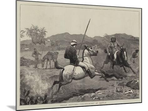 Indian Sketches, Pie-Sticking at Poonah-John Charlton-Mounted Giclee Print