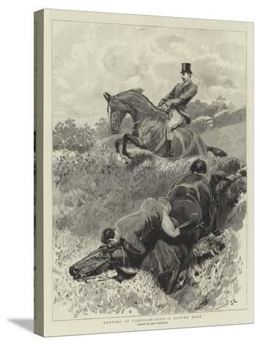 Hunting in Cardiganshire, a Rotten Bank-John Charlton-Stretched Canvas Print