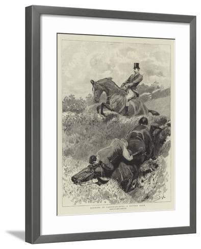 Hunting in Cardiganshire, a Rotten Bank-John Charlton-Framed Art Print