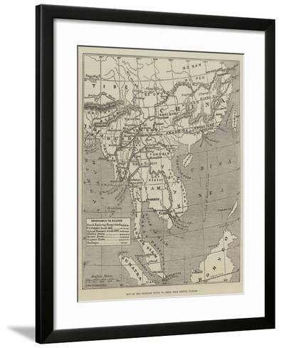 Map of the Proposed Route to China from British Burmah-John Dower-Framed Art Print