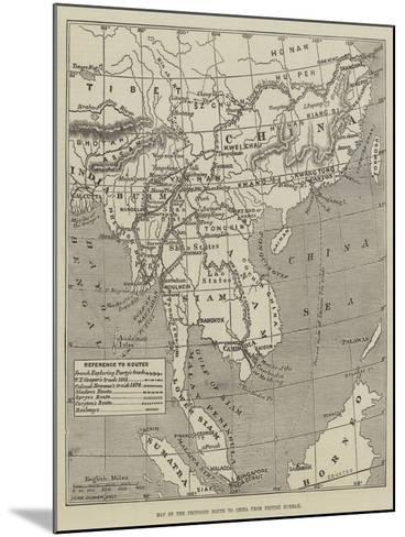 Map of the Proposed Route to China from British Burmah-John Dower-Mounted Giclee Print