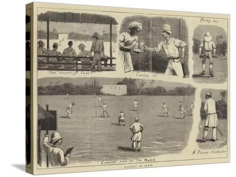 Cricket in India-John Charles Dollman-Stretched Canvas Print