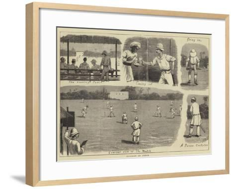 Cricket in India-John Charles Dollman-Framed Art Print