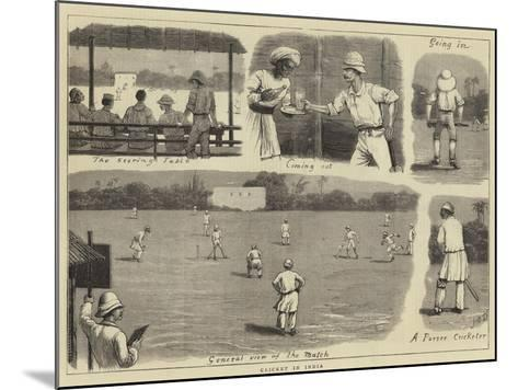 Cricket in India-John Charles Dollman-Mounted Giclee Print