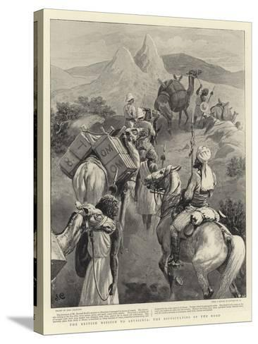 The British Mission to Abyssinia, the Difficulties of the Road-John Charlton-Stretched Canvas Print