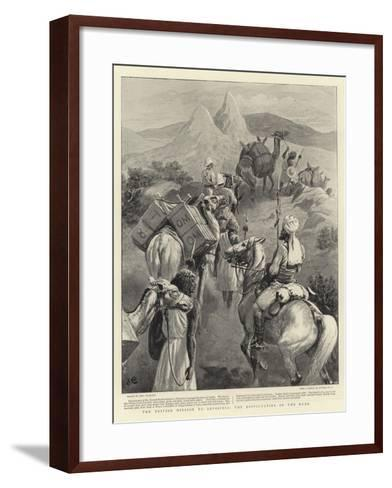 The British Mission to Abyssinia, the Difficulties of the Road-John Charlton-Framed Art Print