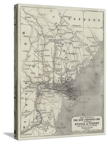 Map Showing the New Frontier Line Between Russia and Turkey as Settled by the Treaty, 30 March 1856-John Dower-Stretched Canvas Print