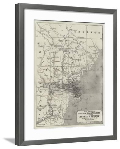 Map Showing the New Frontier Line Between Russia and Turkey as Settled by the Treaty, 30 March 1856-John Dower-Framed Art Print