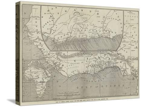 Maps of Africa, Upper Guinea, and the Gold Coast, Showing the Site of the Ashantee War-John Dower-Stretched Canvas Print