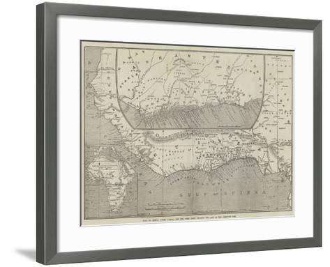 Maps of Africa, Upper Guinea, and the Gold Coast, Showing the Site of the Ashantee War-John Dower-Framed Art Print