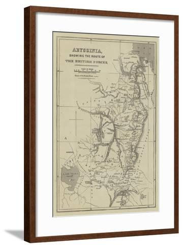 Abyssinia, Showing the Route of the British Forces-John Dower-Framed Art Print