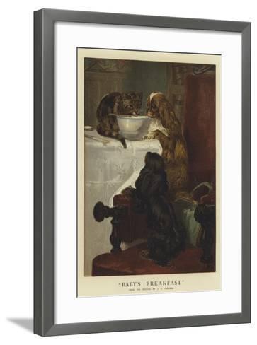 Baby's Breakfast-John Charles Dollman-Framed Art Print