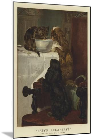 Baby's Breakfast-John Charles Dollman-Mounted Giclee Print
