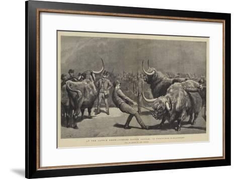 At the Cattle Show, Judging Scotch Cattle, A Fractious Hielander-John Charlton-Framed Art Print