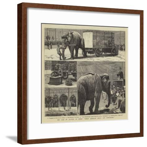 The Sale by Auction of Myers' Great American Circus and Hippodrome-John Charles Dollman-Framed Art Print