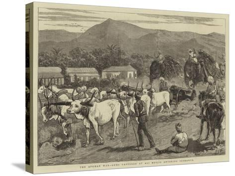 The Afghan War, Guns Captured at Ali Musjid Entering Peshawur-John Charles Dollman-Stretched Canvas Print