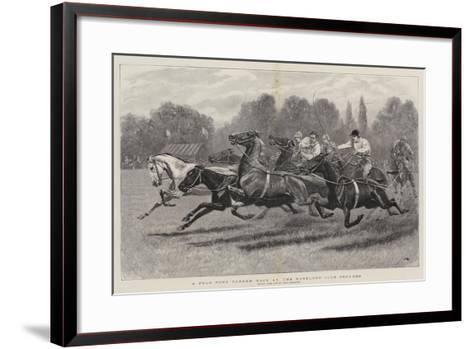 A Polo Pony Tandem Race at the Ranelagh Club Grounds-John Charlton-Framed Art Print