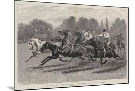 A Polo Pony Tandem Race at the Ranelagh Club Grounds-John Charlton-Mounted Giclee Print
