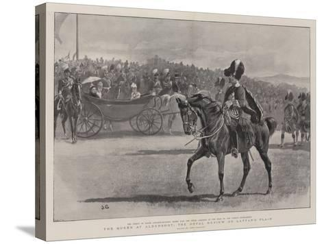 The Queen at Aldershot, the Royal Review on Laffan's Plain-John Charlton-Stretched Canvas Print