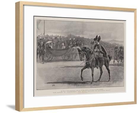 The Queen at Aldershot, the Royal Review on Laffan's Plain-John Charlton-Framed Art Print