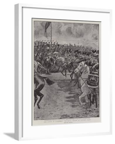 The Queen at Aldershot, the Royal Review on Laffan's Plain-John Charlton-Framed Art Print