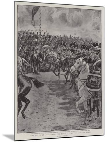 The Queen at Aldershot, the Royal Review on Laffan's Plain-John Charlton-Mounted Giclee Print