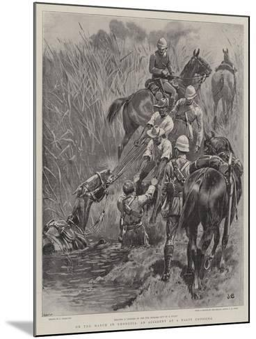 On the March in Rhodesia, an Accident at a Nasty Crossing-John Charlton-Mounted Giclee Print