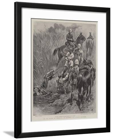 On the March in Rhodesia, an Accident at a Nasty Crossing-John Charlton-Framed Art Print