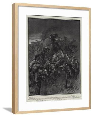 A Wild Stampede, the Effect of a South African Hail-Storm-John Charlton-Framed Art Print