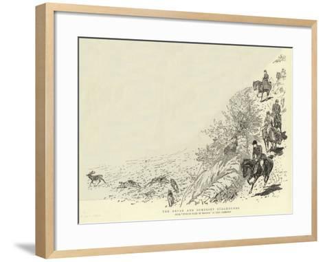 The Devon and Somerset Staghounds-John Charlton-Framed Art Print