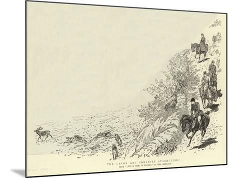 The Devon and Somerset Staghounds-John Charlton-Mounted Giclee Print