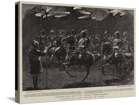 Celebrating the Jubilee in India-John Charlton-Stretched Canvas Print