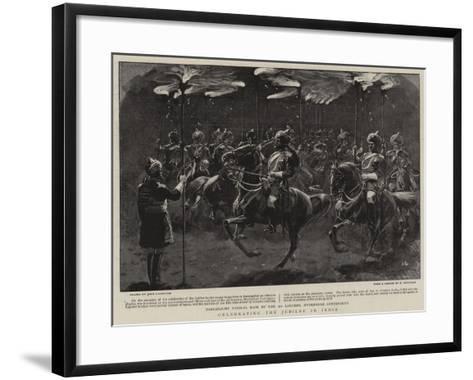 Celebrating the Jubilee in India-John Charlton-Framed Art Print