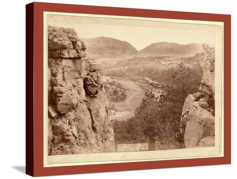 Echo Canyon. Looking Through Sioux Pass. on F.E. and M.V. Ry., Hot Springs, S.D-John C. H. Grabill-Stretched Canvas Print