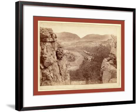 Echo Canyon. Looking Through Sioux Pass. on F.E. and M.V. Ry., Hot Springs, S.D-John C. H. Grabill-Framed Art Print