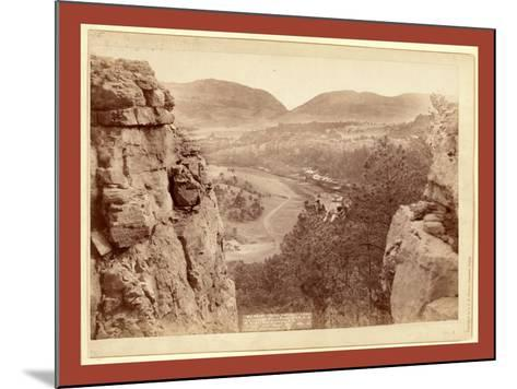 Echo Canyon. Looking Through Sioux Pass. on F.E. and M.V. Ry., Hot Springs, S.D-John C. H. Grabill-Mounted Giclee Print