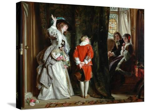 Pay for Peeping, 1872-John Callcott Horsley-Stretched Canvas Print