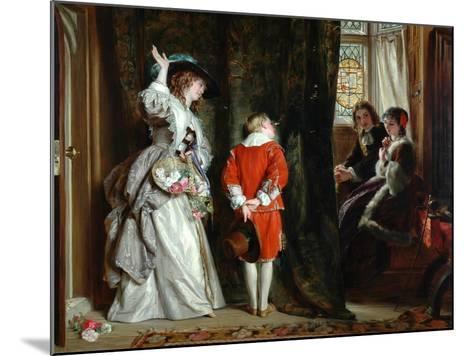 Pay for Peeping, 1872-John Callcott Horsley-Mounted Giclee Print