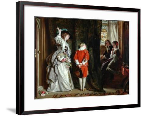 Pay for Peeping, 1872-John Callcott Horsley-Framed Art Print