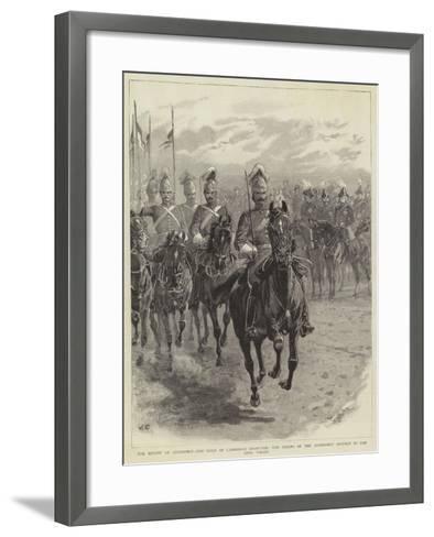 The Review at Aldershot-John Charlton-Framed Art Print