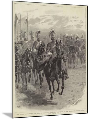 The Review at Aldershot-John Charlton-Mounted Giclee Print