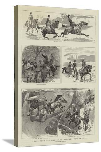 Scenes from the Life of an Officer's Wife in India-John Charlton-Stretched Canvas Print