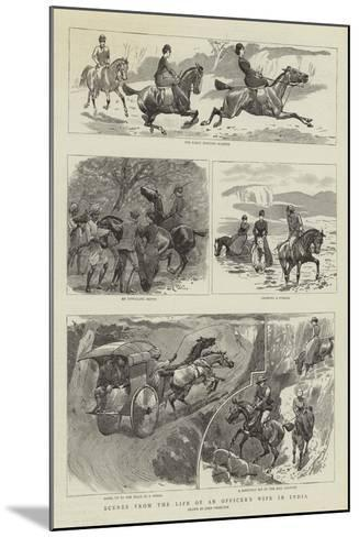 Scenes from the Life of an Officer's Wife in India-John Charlton-Mounted Giclee Print
