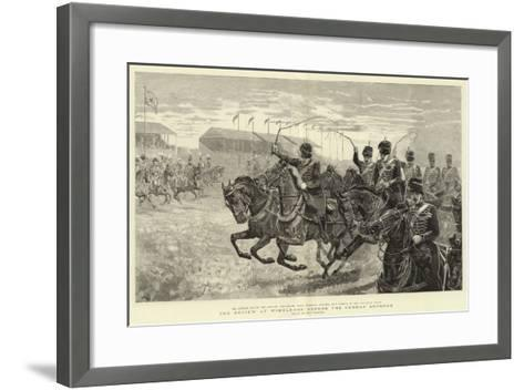 The Review at Wimbledon before the German Emperor-John Charlton-Framed Art Print