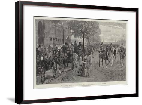 Waiting for a Glimpse of Her Majesty, Hyde Park-John Charlton-Framed Art Print